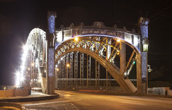 bolsheokhtinsky bro St Petersburg Ryssland arkivbilder