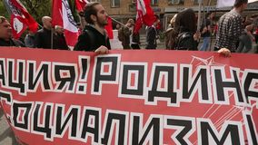 Bolsheviks national, ainsi que des défenseurs de parti communiste participent clips vidéos