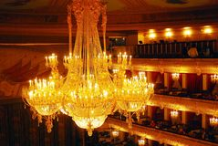 Bolshoi剧院历史大厦内部 库存照片