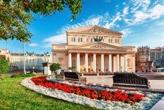 Bolshoi剧院在莫斯科,俄罗斯 库存照片