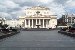 The Bolshoi in Moscow royalty free stock image