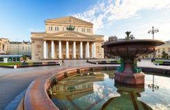 Bolshoi teater i Moskva, Ryssland royaltyfri foto