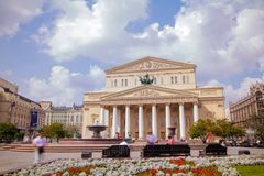 Bolshoi Theater in Moscow, Russia Stock Photography