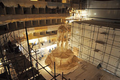 Bolshoi theater, Reconstruction of the hall and Main chandelier Royalty Free Stock Photos
