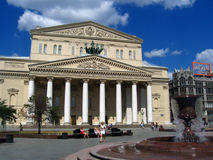 Bolshoi theater and TSUM shopping mall in Moscow Stock Images
