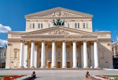 The Bolshoi Theatre. Front of the Bolshoi Theatre in Moscow, Russia Royalty Free Stock Photos