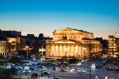 Bolshoi theatre in moscow Royalty Free Stock Image