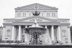 Bolshoi theatre in Moscow, Russia Royalty Free Stock Images