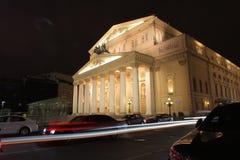 Bolshoitheater in Moskou, nachtmening Royalty-vrije Stock Fotografie