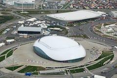 Bolshoy-Eis-Haube und Adler-Arena-Eislaufmitte Lizenzfreies Stockbild