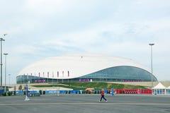 Bolshoy Ice Dome. SOCHI, ADLER, RUSSIA - MAR 08, 2014: Bolshoy Ice Dome at Olympic Park in Adlersky District, Krasnodar Krai - venue for the 2014 winter Olympics royalty free stock photos