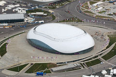 Bolshoy Ice Dome. SOCHI, ADLER, RUSSIA - MAR 02, 2014: Bolshoy Ice Dome at Olympic Park in Adlersky District, Krasnodar Krai - venue for the 2014 winter Olympics stock photos