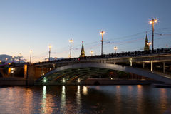 Bolshoy Kamenny Bridge, Moscow Royalty Free Stock Photography
