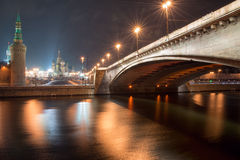 Bolshoy Moskvoretskiy most Zdjęcia Stock