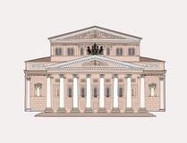 Bolshoy-theatre-coloured Royalty Free Stock Photos