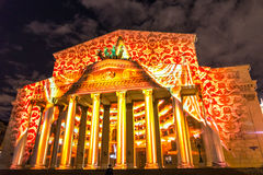 The Bolshoy Theatre. Iinternational festival The Circle of Light. The Bolshoy Theatre, Moscow, Russia - October 13, 2014: the international festival Circle of Stock Photo
