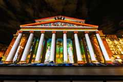 The Bolshoy Theatre. Iinternational festival The Circle of Light. The Bolshoy Theatre, Moscow, Russia - October 13, 2014: the international festival Circle of Stock Photography