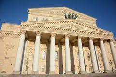 Bolshoy (tusen dollar) teater i Moskva, Ryssland Fotografering för Bildbyråer