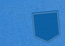 Bolsillo azul ilustración del vector