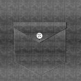 Bolsillo de la camisa del dril de algodón - negro Imagenes de archivo