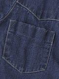 Bolsillo de la chaqueta de los pantalones vaqueros Foto de archivo libre de regalías