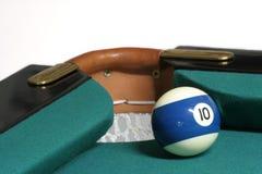 bolsillo de la esquina de 10 bolas Foto de archivo