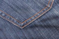 Bolsillo de la materia textil de los pantalones vaqueros Fotos de archivo libres de regalías