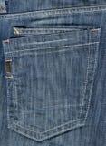 Bolsillo de la mezclilla azul Foto de archivo libre de regalías