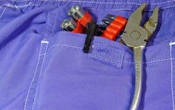 Bolsillo de las herramientas Fotografía de archivo libre de regalías