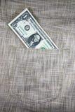 Bolsillo de lino Fotografía de archivo