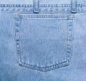 Bolsillo de los pantalones vaqueros foto de archivo