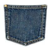 Bolsillo de los pantalones vaqueros. Fotos de archivo