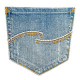 Bolsillo de los pantalones vaqueros Foto de archivo libre de regalías