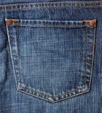 Bolsillo de los pantalones vaqueros Imagen de archivo libre de regalías