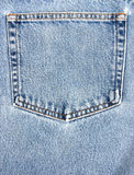 Bolsillo de los pantalones vaqueros imagen de archivo
