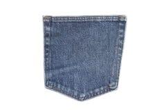 Bolsillo de los pantalones vaqueros aislados Fotos de archivo