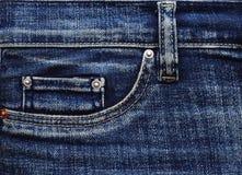 Bolsillo de los pantalones vaqueros del dril de algodón Imagen de archivo