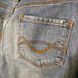 Bolsillo de los tejanos del dril de algodón Fotografía de archivo libre de regalías
