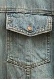 Bolsillo del botón de cobre amarillo Foto de archivo
