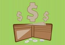 Bolsillo del dinero Imágenes de archivo libres de regalías