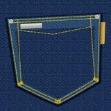 Bolsillo del dril de algodón Fotografía de archivo libre de regalías