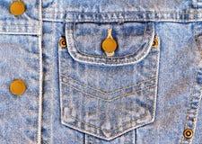 Bolsillo del dril de algodón Imagen de archivo