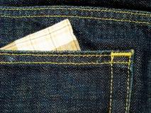 Bolsillo del dril de algodón Fotos de archivo