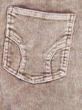 Bolsillo del pantalón Foto de archivo libre de regalías