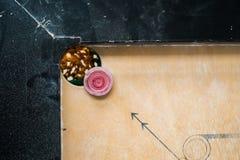 Bolsillo del tablero de Carrom foto de archivo libre de regalías