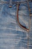 Bolsillo delantero de pantalones vaqueros Foto de archivo