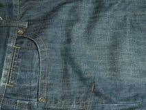 Bolsillo en los pantalones vaqueros Fotos de archivo