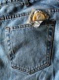 Bolsillo posterior del preservativo imagen de archivo libre de regalías