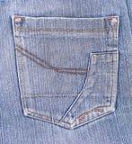 Bolsillo viejo de los pantalones vaqueros Imagen de archivo libre de regalías