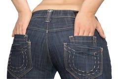 Bolsillos de los pantalones vaqueros Fotos de archivo